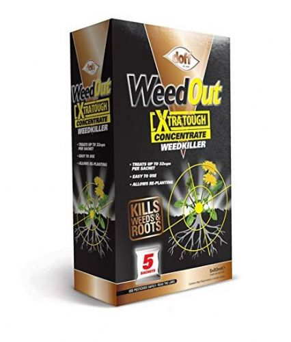 Doff Weedout Extra Tough Weedkiller Concentrate 5 Sachets